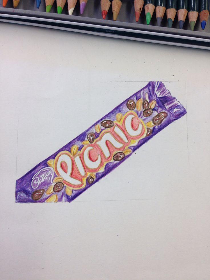 Picnic - coloured pencil