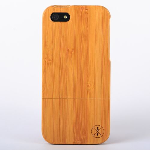 Bamboo Charleston Case - iPhone 5/5S -  Crafted from a solid piece of bamboo wood and sanded and polished by hand, this unique case offers protection from harmful elements and scratches. Plus, 20% of the sale goes to charity and 1 tree is planted per product sold!