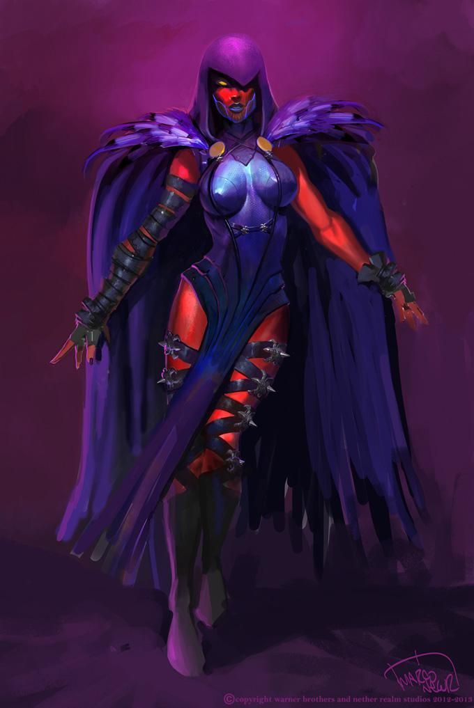 Injustice: Gods Among Us - Raven by Marco Nelor.