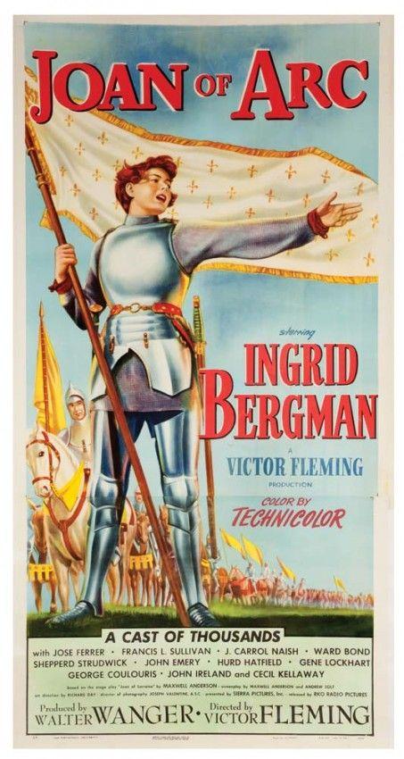 Joan of Arc original U.S.poster, Ingrid Bergman version : Lot 199