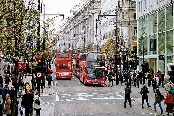Shopping in #London's Oxford Street. Read more: http://www.nyhabitat.com/blog/2013/03/11/top-5-shopping-spots-london/