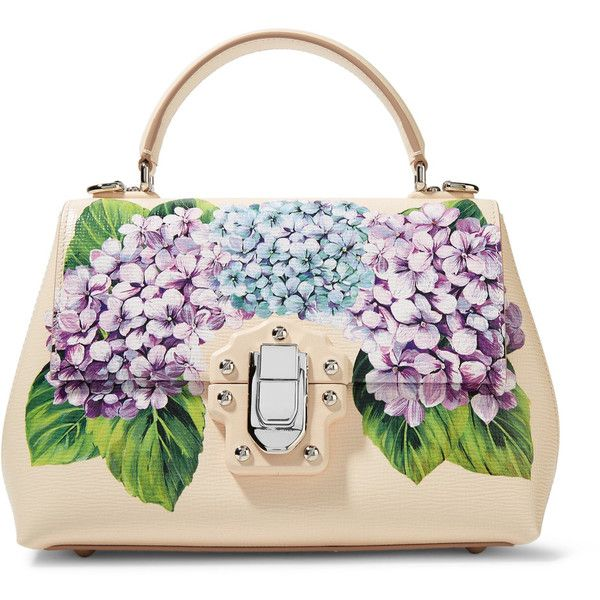 Dolce & Gabbana Lucia small printed textured-leather tote (£2,015) ❤ liked on Polyvore featuring bags, handbags, tote bags, pastel pink, white tote, polka dot tote bag, kiss-lock handbags, white purse and colorful tote bags