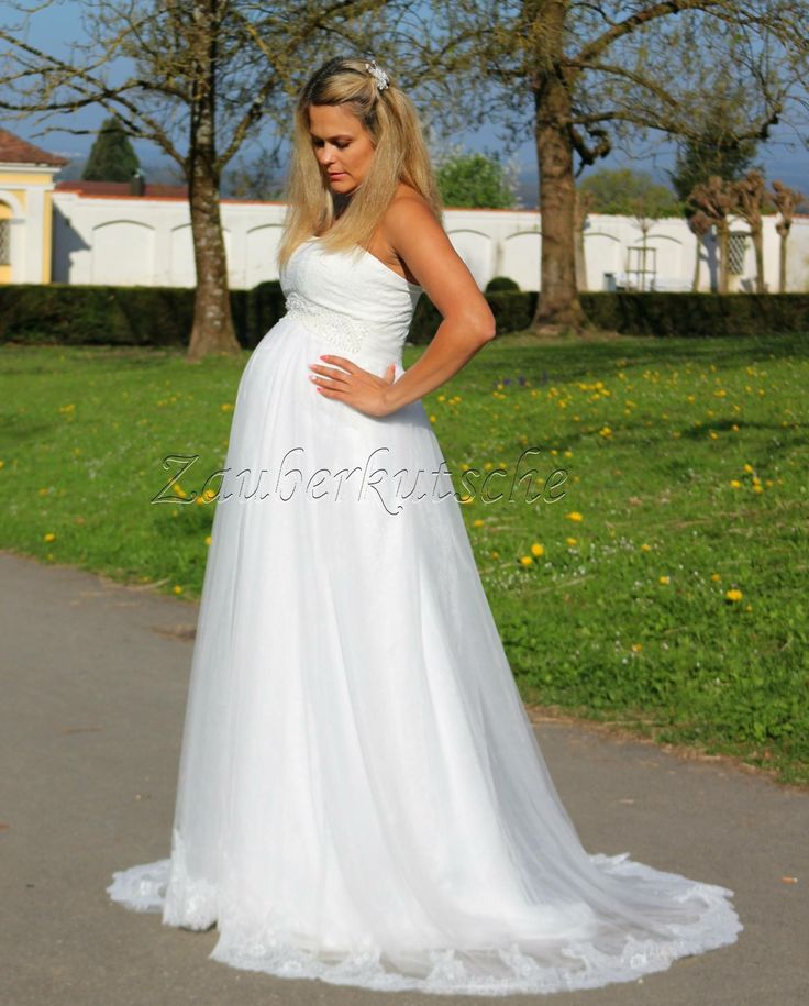 Brautmode Umstandskleid Brautkleid Spitze Umdtandsmode