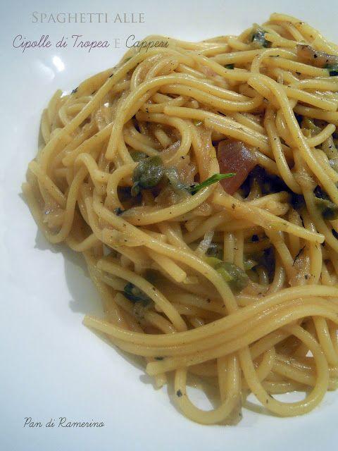 Spaghetti alle cipolle di tropea e capperi