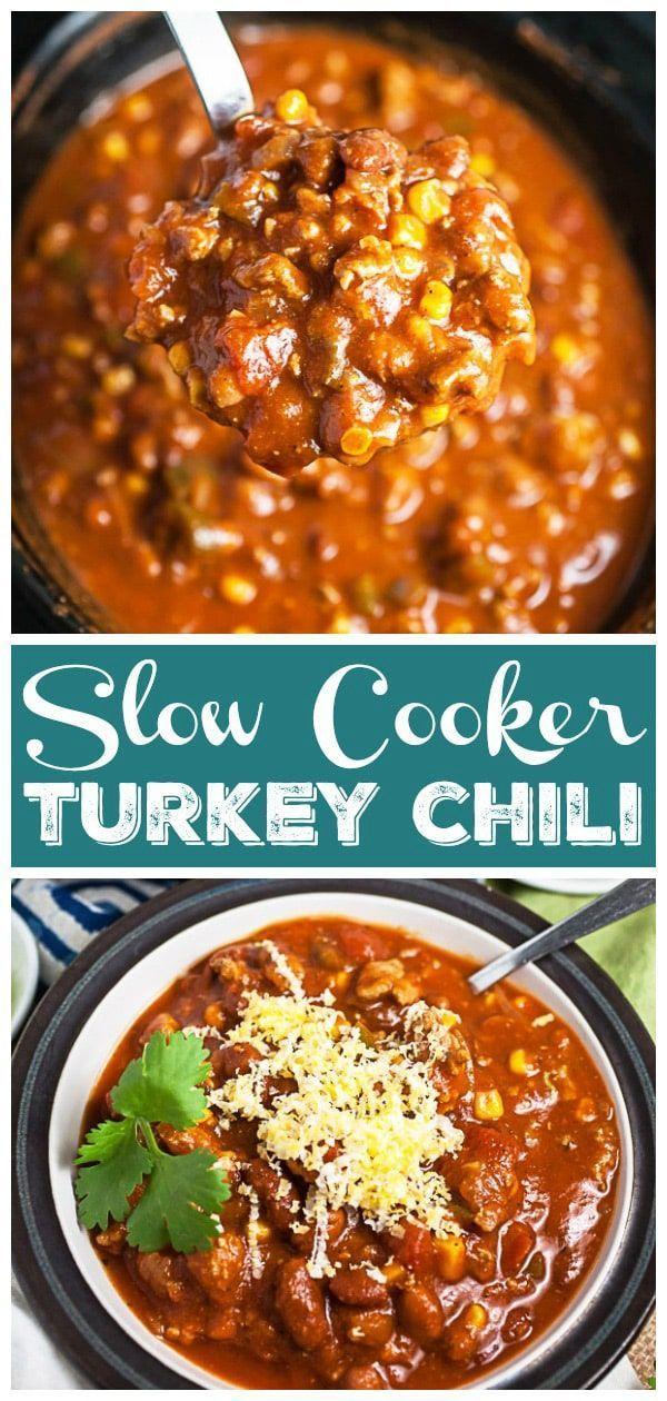 Chili A La Dinde A La Mijoteuse Slow Cooker Turkey Chili Recipe Slow Cooker Turkey Chili Slow Cooker Turkey