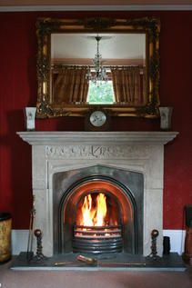 Our Grand Fireplace in the Red Room