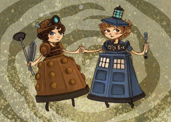 Fancy Dress Dr Who by theGorgonist on Etsy, $7.00