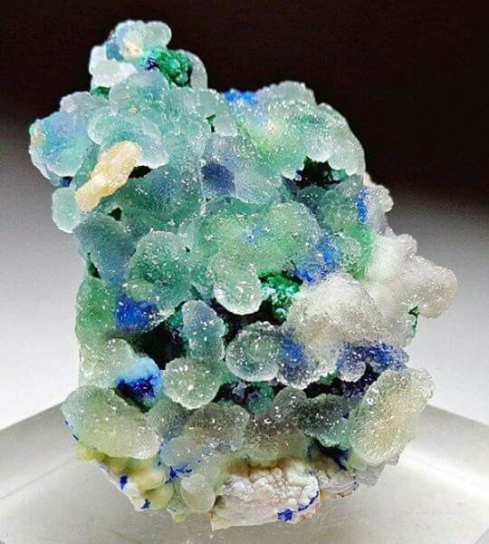 Smithsonite, Linarite, Brochanite from Morocco
