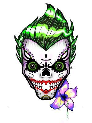 Joker Skull by Ken Doll
