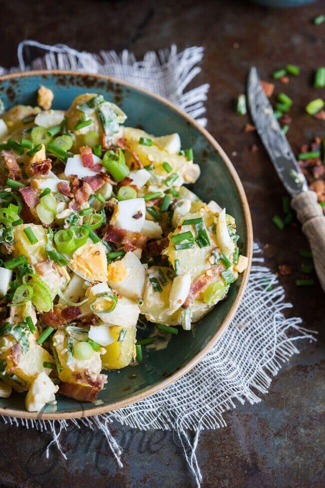 Romige aardappelsalade van Matt Preston | simoneskitchen.nl