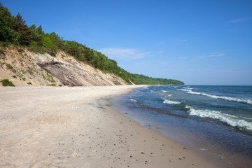 Cliff and Beach at Baltic Sea in Chlapowo