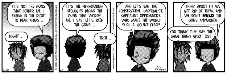 The Boondocks by Aaron McGruder for Jul 10, 2002 | Read Comic Strips at GoComics.com