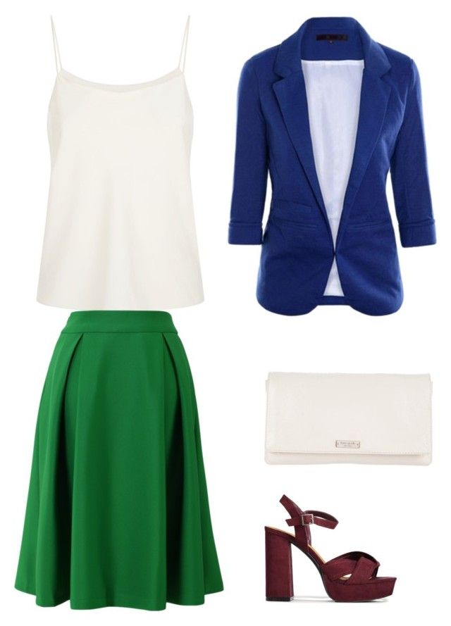 """Green+blue"" by sofya-2 on Polyvore featuring The Row, Chicwish and Kate Spade"