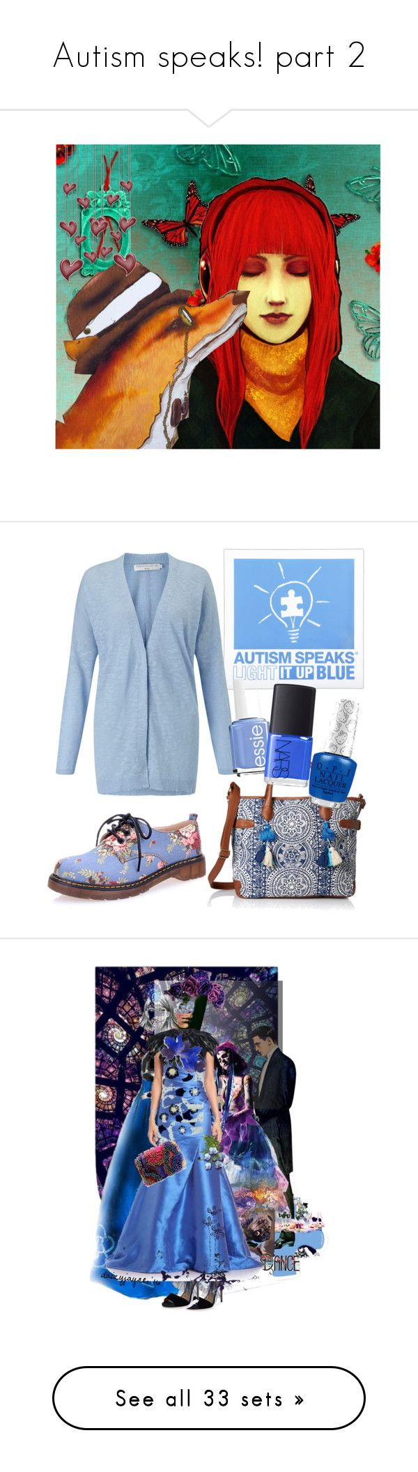 """Autism speaks! part 2"" by elliewriter ❤ liked on Polyvore featuring art, John Lewis, T-shirt & Jeans, Essie, NARS Cosmetics, autismawareness, lightitupblue2016, contestentry, autismball and Vera Bradley"