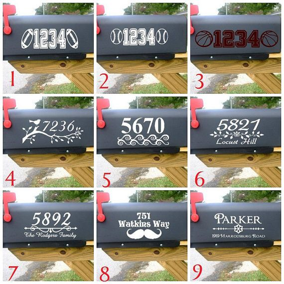 Vinyl mailbox decals choose from 9 designs