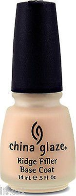 CHINA GLAZE RIDGE FILLER NAIL TREATMENT, BASE COAT FOR SMOOTH SURFACE, MANICURE