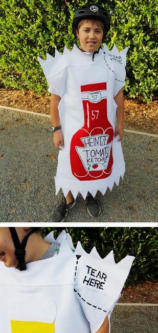DIY | Heinz Ketchup + Mustard Packet Costume (details)