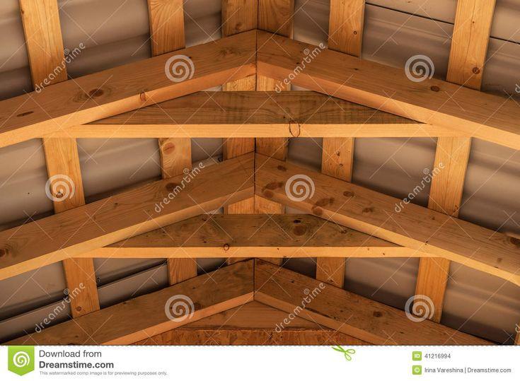 Roof Joist Wood Construction Stock Photo - Image: 41216994