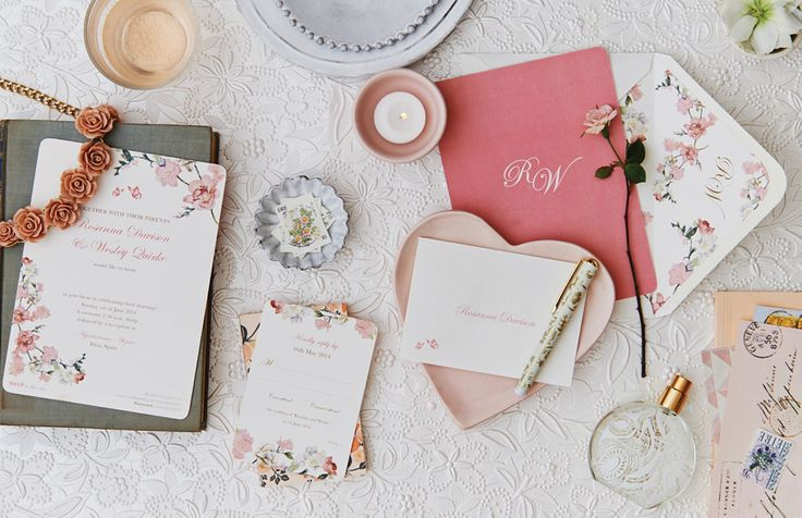 Floral Pink Wedding Stationery | Bespoke Stationery Giveaway Worth £350 With Appleberry Press