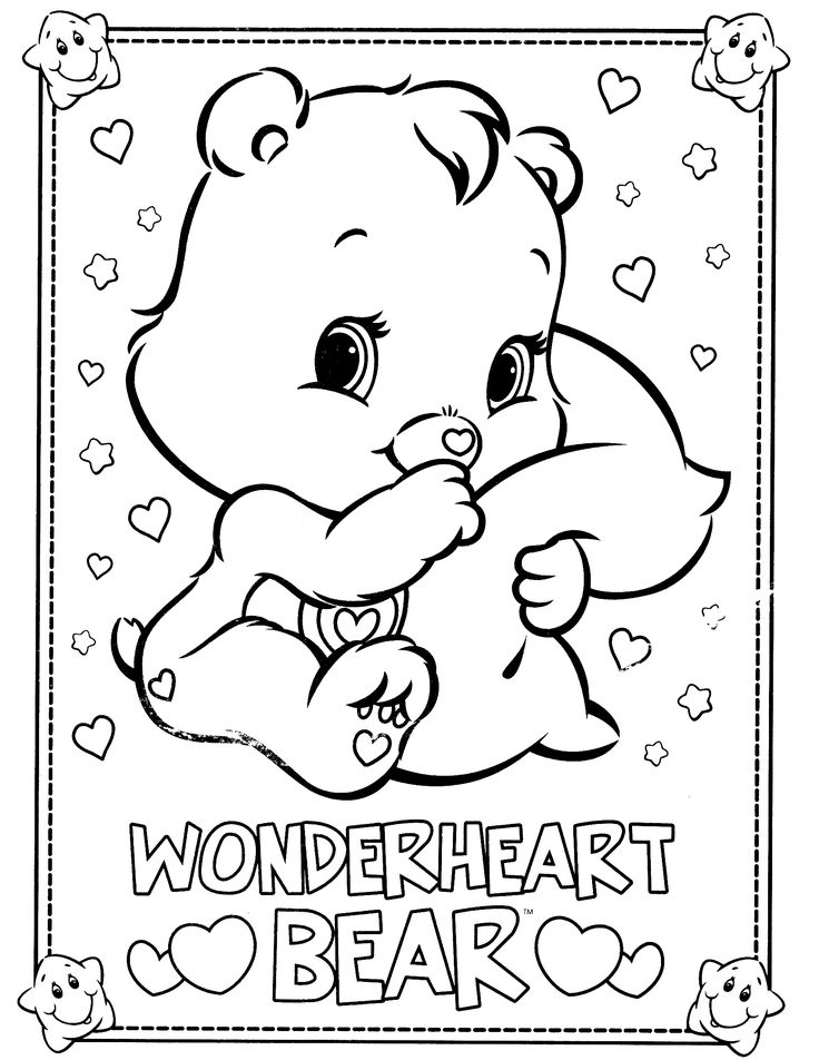 care bear valentines coloring pages - photo#42