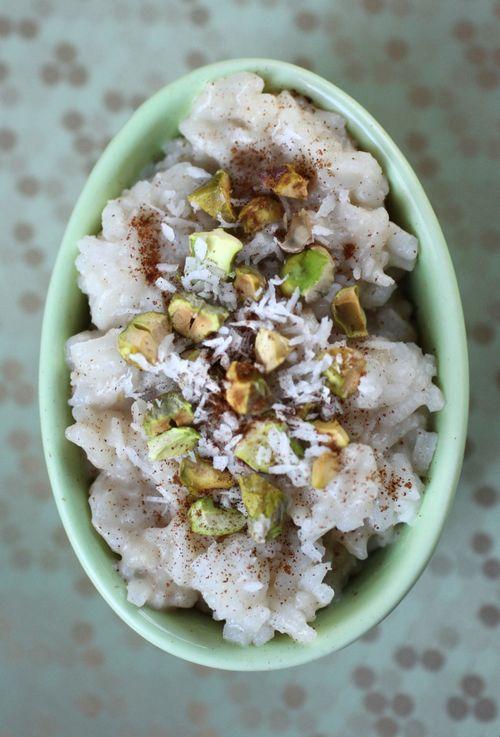Warm Coconut Rice Pudding