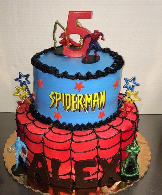 Best 25+ Spiderman Birthday Cake Ideas On Pinterest