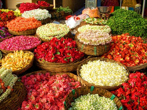 Flower market - Bangalore, India