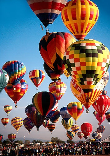 Bucket List! Ride in a Hot Air Balloon!!!Colorful Hot Air Balloons ~~ Photo by Kathleen Andersen via Flickr