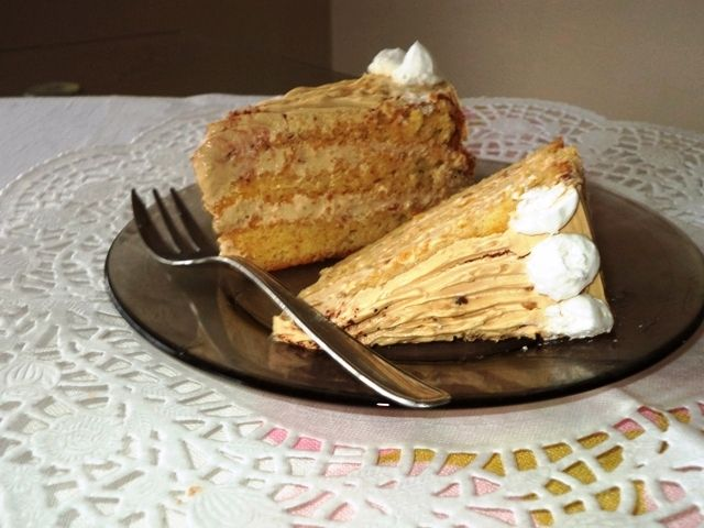 Karamellhabos torta Gabystól