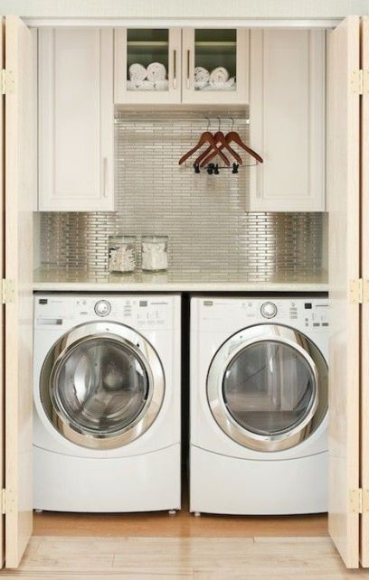 Chic Closet Laundry Room