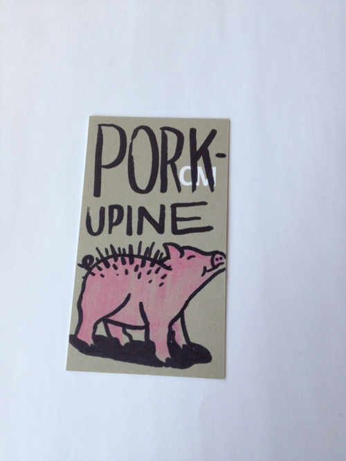 "Family Feud: a word that follows ""pork""…  ""upine"", obviously"