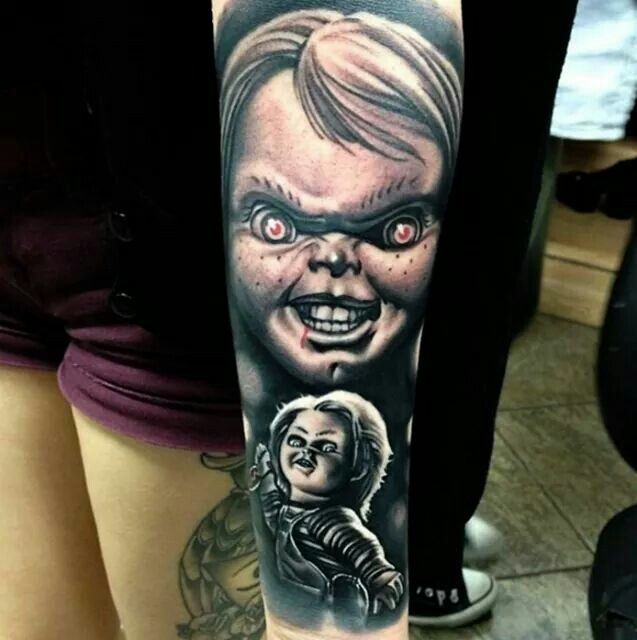 Realistic Coloring Of Chucky: 49 Best Bride Of Chucky Tattoos Images On Pinterest