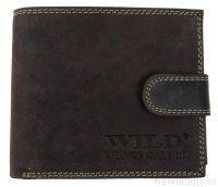 Pánská peněženka z broušené kůže WILD 995 tmavě hnědá