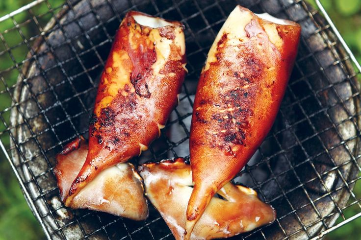 Squid with Ginger-Soy Sauce Marinade