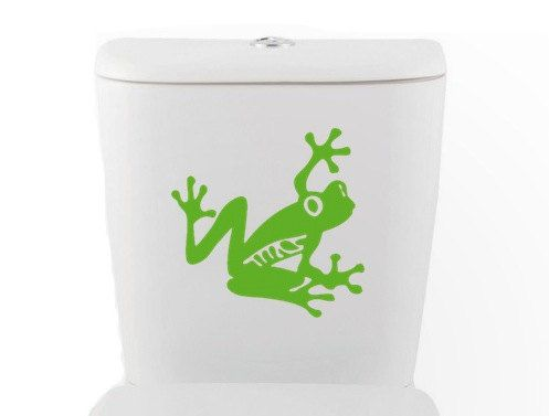 Tree Frog DECAL Toilet Home Decor Vinyl Wall Art By EyvalDecal, $20.00