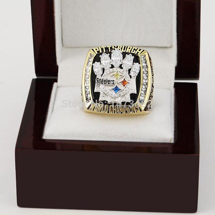 Спортивные кольца 2005 супер боул XL питтсбург чемпионат кольца мужчины медные кольца с коробкой , как вентилятор подарок