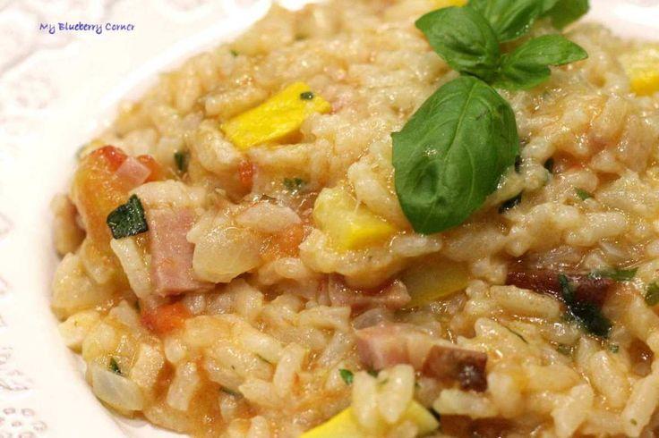 Pomidorowe risotto z cukinią - My Blueberry Corner