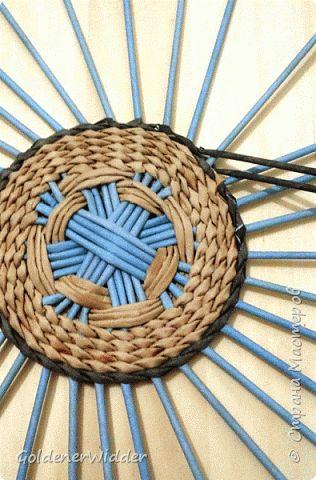 Мастер-класс Плетение Панно 40 см Спиральное плетение Бумага газетная Трубочки бумажные фото 6