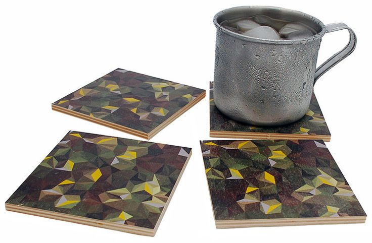 Flox 'Camo' Wooden Coasters