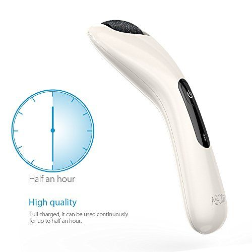 Abody Callus Remover Shaver Electronic Foot File USB Rechargeable Foot Care Pedicure Tool for Dead Skin Cracked Skin Rough Heels Comfortable Handle Design with Replacement Roller Head
