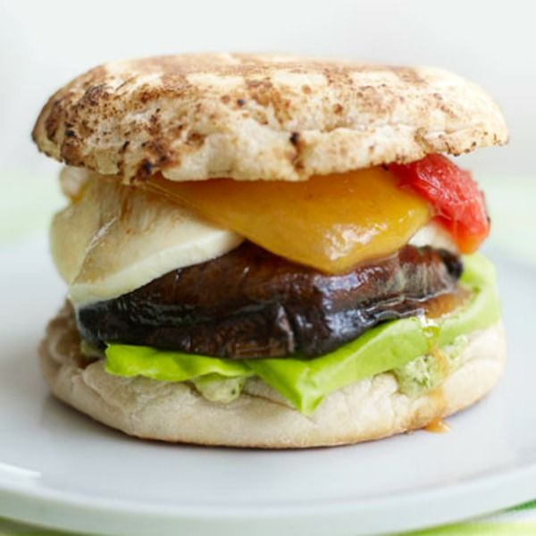 ... burgers with a Mediterranean flair. Recipe: Grilled Portabella Burgers
