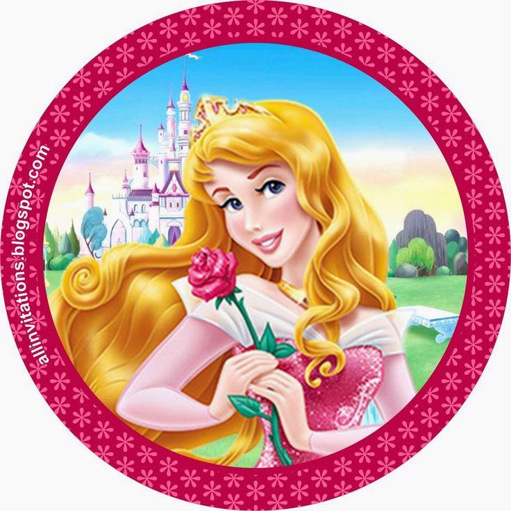 Etiqueta Boton Princesa Aurora