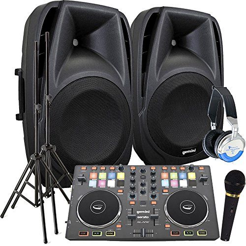 Serato Software Digital DJ System - Gemini Slate Controller - A pair of 800 Watt Powered DJ Speakers w/Stands, Microphone & Headphones - http://djequipment.nationalsales.com/serato-software-digital-dj-system-gemini-slate-controller-a-pair-of-800-watt-powered-dj-speakers-wstands-microphone-headphones/