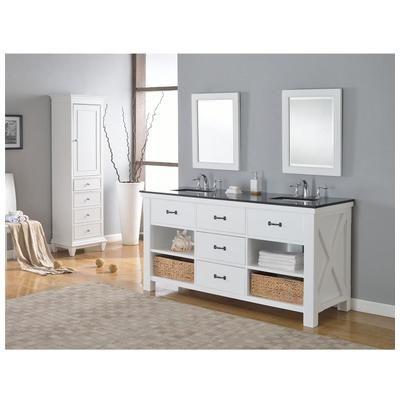 Picture Gallery For Website Best Deal Direct Vanity Xtraordinary Spa White bathroom vanity with Black Granite D