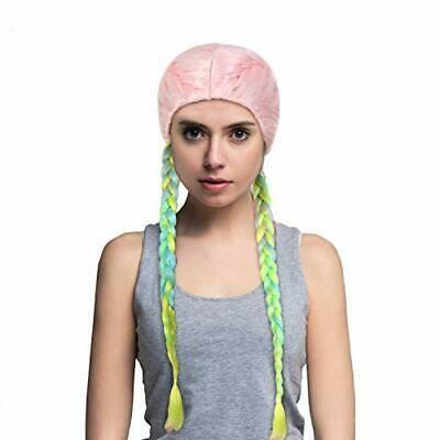 (Ad) Women Boxer Braid Wigs Rainbow Colorful Long …