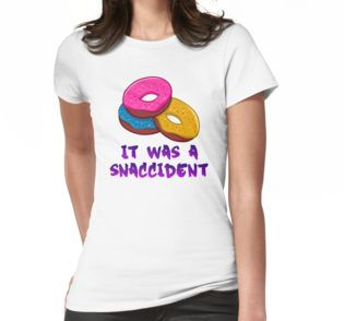 It was a snaccident funny donuts t-shirt