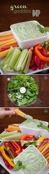 This guilt-free crea This guilt-free creamy and healthy Green...  This guilt-free crea This guilt-free creamy and healthy Green Goddess Dip with just a hint of heat is Recipe : http://ift.tt/1hGiZgA And @ItsNutella  http://ift.tt/2v8iUYW