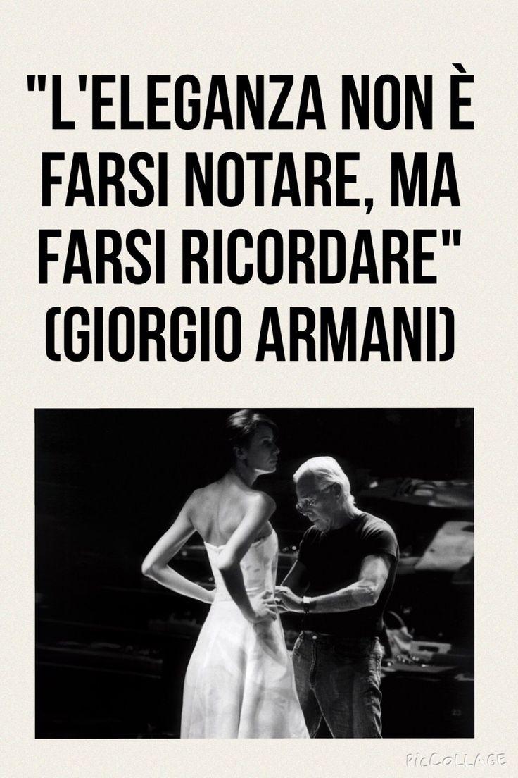 Citazione del giorno Quotes Giorgio Armani
