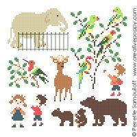 Baby at the Zoo (small pattern)