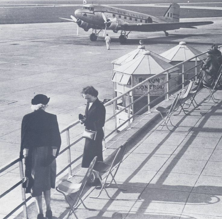 Viewing gallery at the old terminal,building  circa 1950